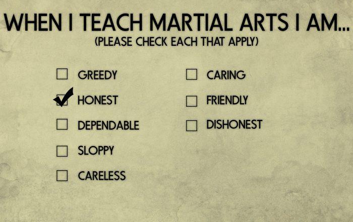 martial arts teaching