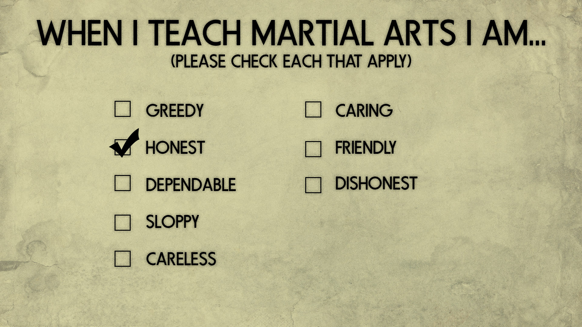 martial arts teaching